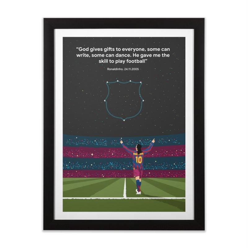 Ronaldinho quote Home Framed Fine Art Print by BM Design Shop