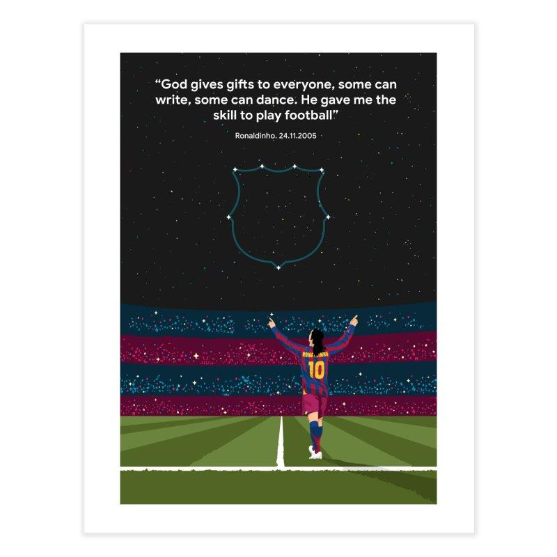 Ronaldinho quote Home Fine Art Print by BM Design Shop