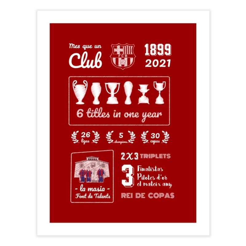 What a club (All colors) Home Fine Art Print by BM Design Shop