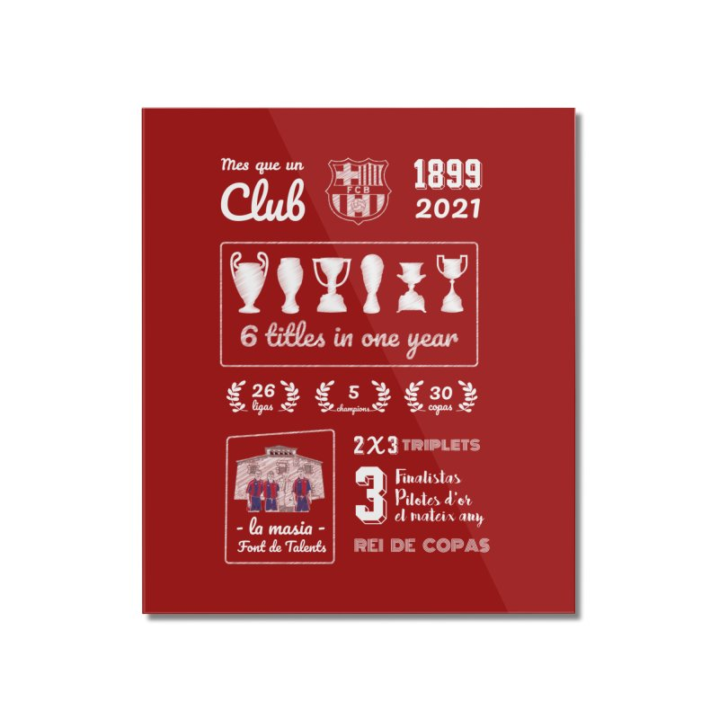What a club (All colors) Home Mounted Acrylic Print by BM Design Shop