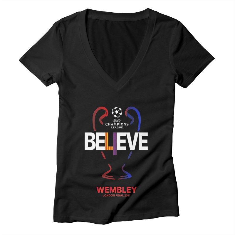 Wembley Final 2011 Women's V-Neck by BM Design Shop
