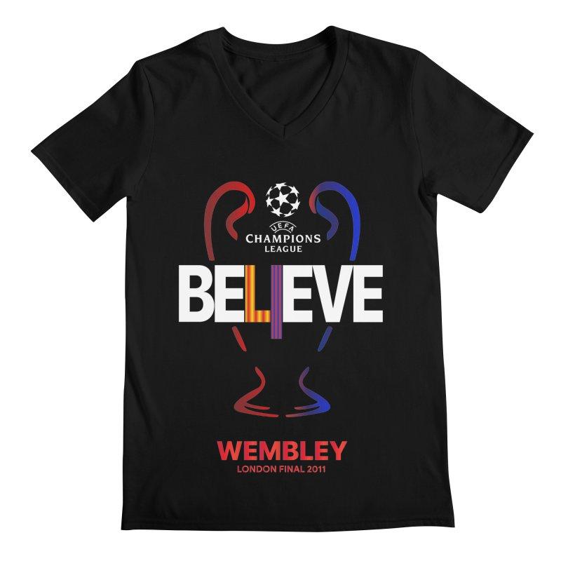 Wembley Final 2011 Men's V-Neck by BM Design Shop