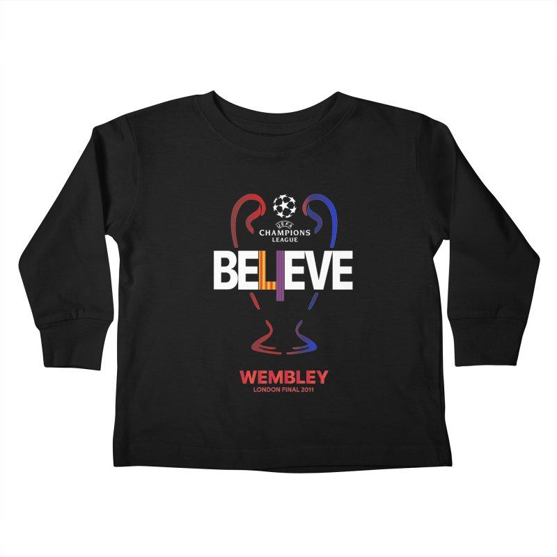 Wembley Final 2011 Kids Toddler Longsleeve T-Shirt by BM Design Shop