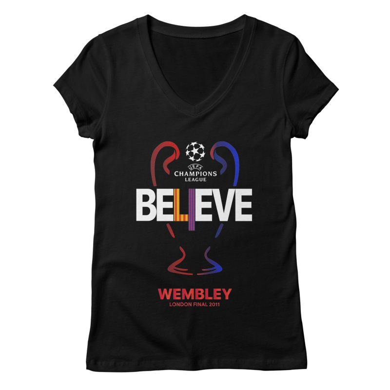 Wembley Final 2011 Women's V-Neck by BM Design Shop