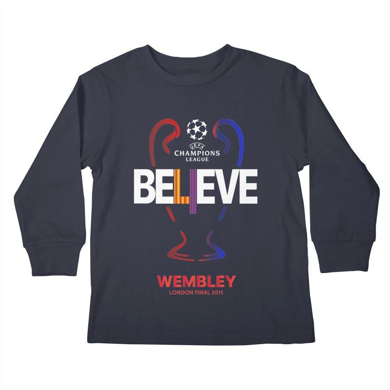 Wembley Final 2011 Kids Longsleeve T-Shirt by BM Design Shop
