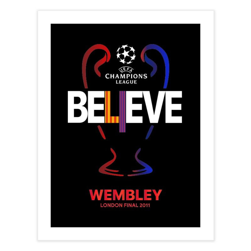 Wembley Final 2011 Home Fine Art Print by BM Design Shop