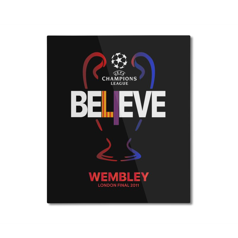 Wembley Final 2011 Home Mounted Aluminum Print by BM Design Shop