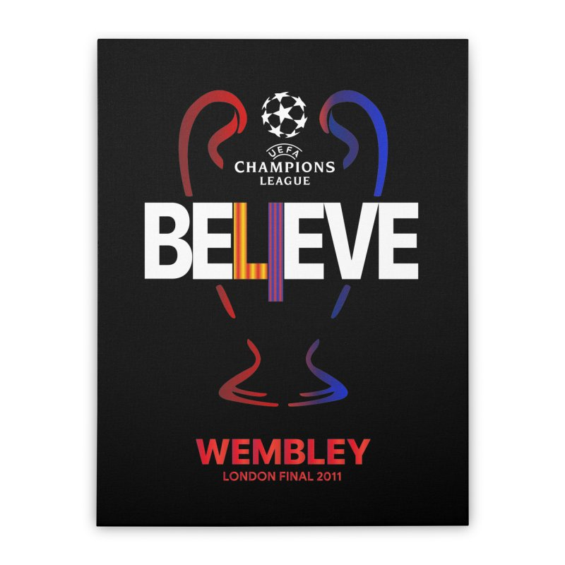 Wembley Final 2011 Home Stretched Canvas by BM Design Shop