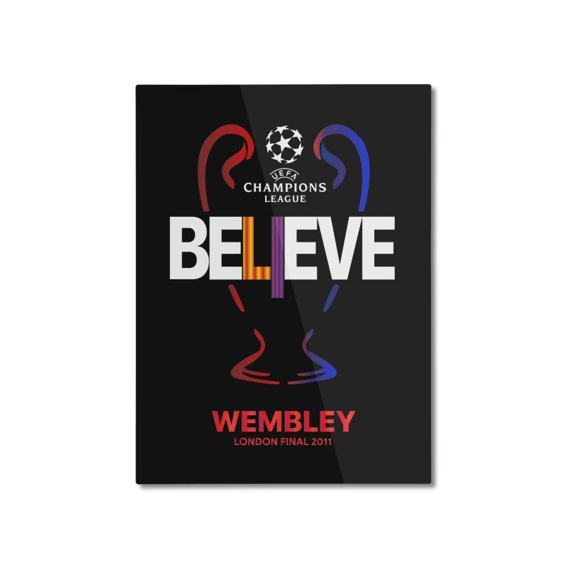Wembley Final 2011 Home Mounted Aluminum Print by BM Design Shop