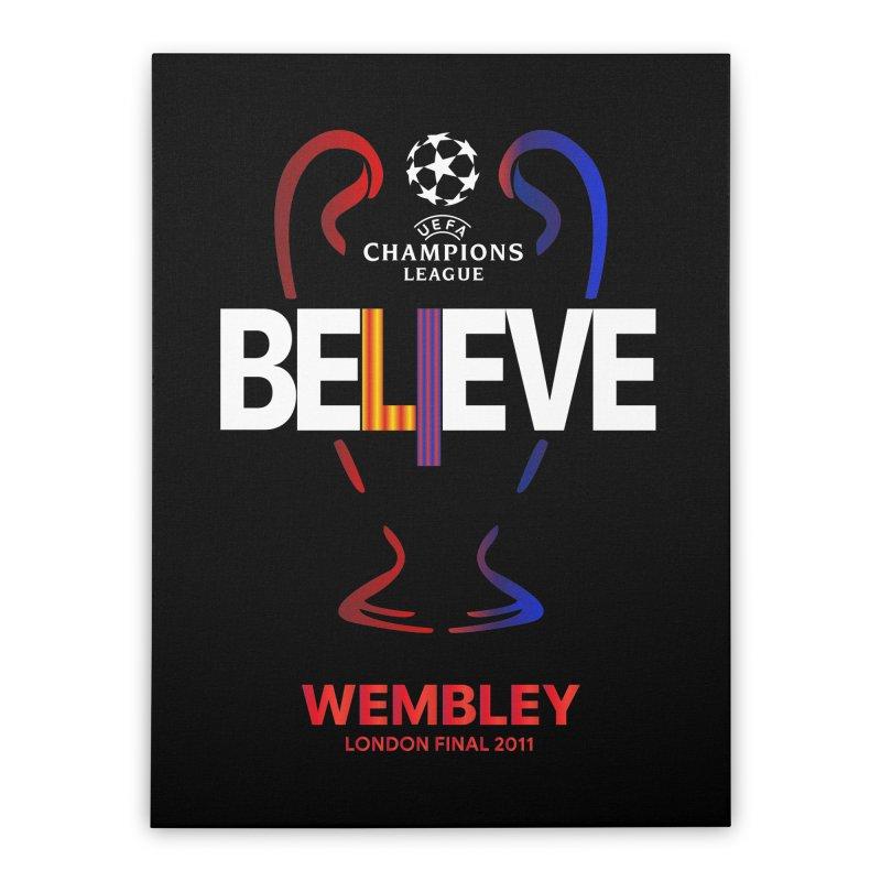 Wembley Final 2011 Home Stretched Canvas by BM Design Shop