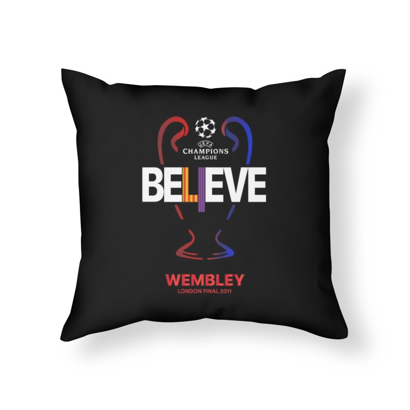 Wembley Final 2011 Home Throw Pillow by BM Design Shop