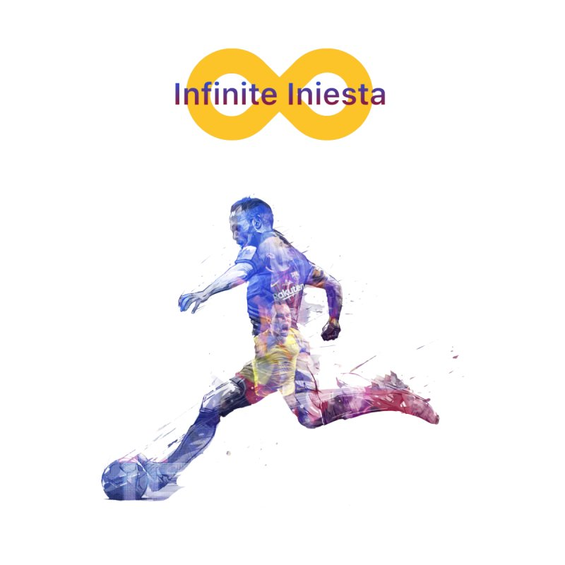 Infinite Iniesta Women's V-Neck by BM Design Shop