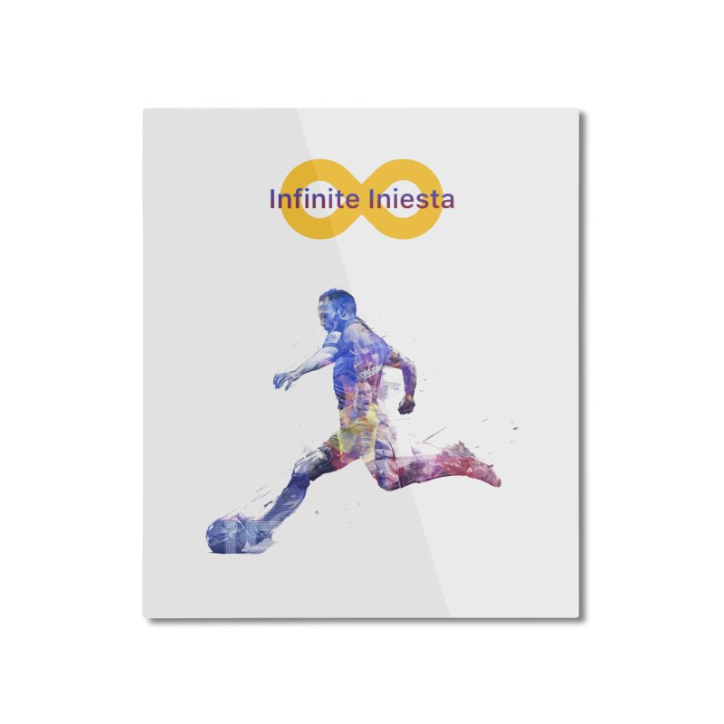 Infinite Iniesta Home Mounted Aluminum Print by BM Design Shop