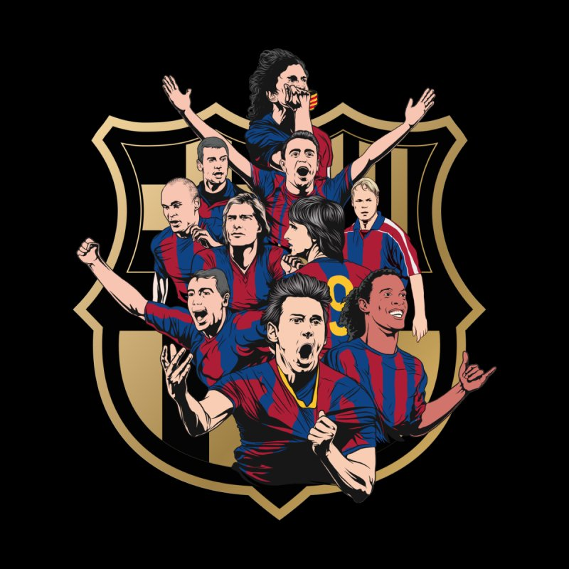 Legends FCB Home Mounted Acrylic Print by BM Design Shop
