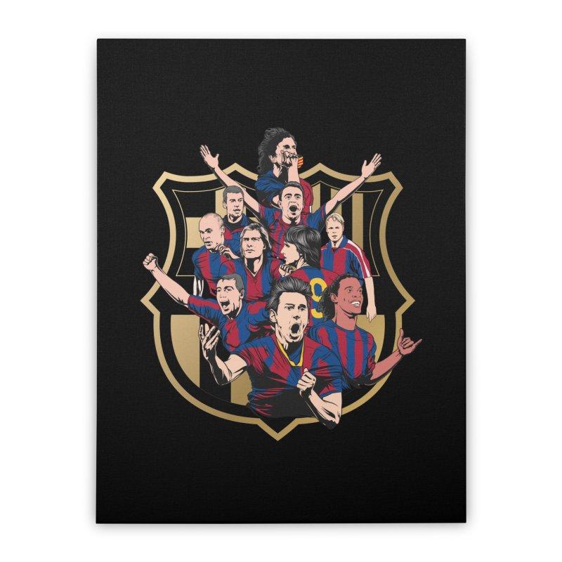 Legends FCB Home Stretched Canvas by BM Design Shop