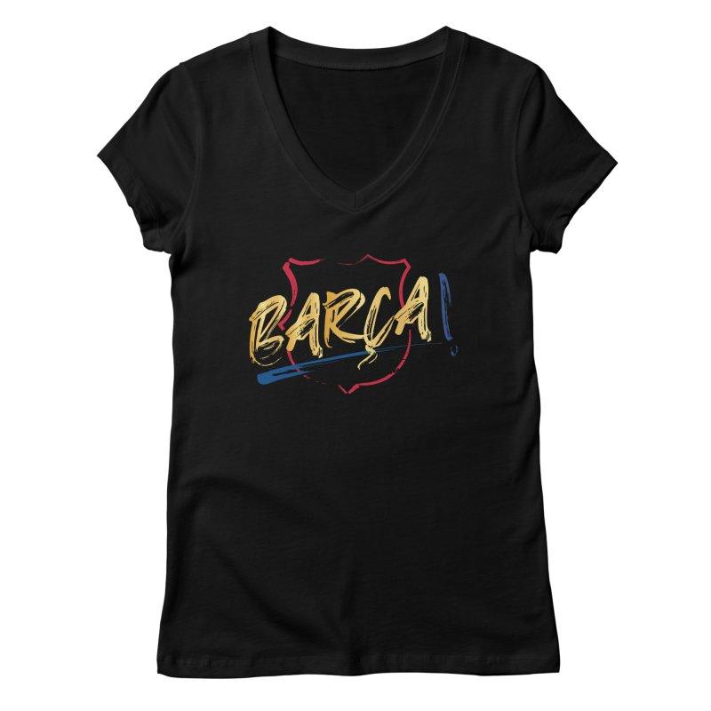 Barca! Women's V-Neck by BM Design Shop