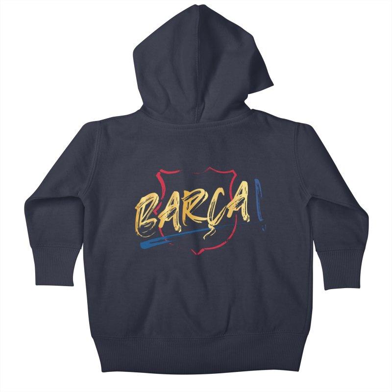 Barca! Kids Baby Zip-Up Hoody by BM Design Shop