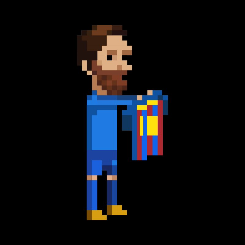 Pixel Messi Men's Pullover Hoody by BM Design Shop