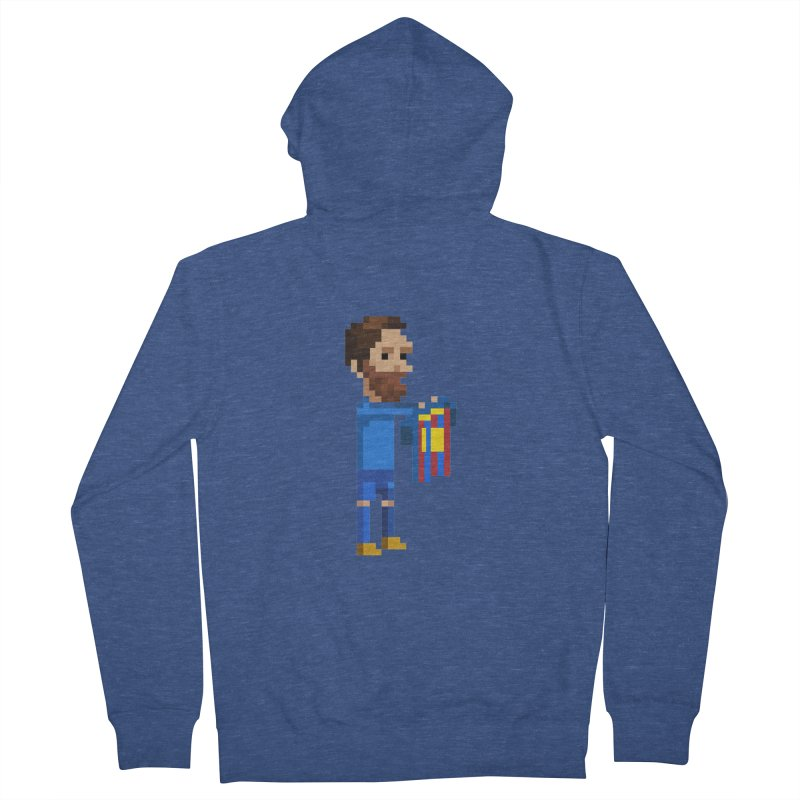 Pixel Messi Men's Zip-Up Hoody by BM Design Shop