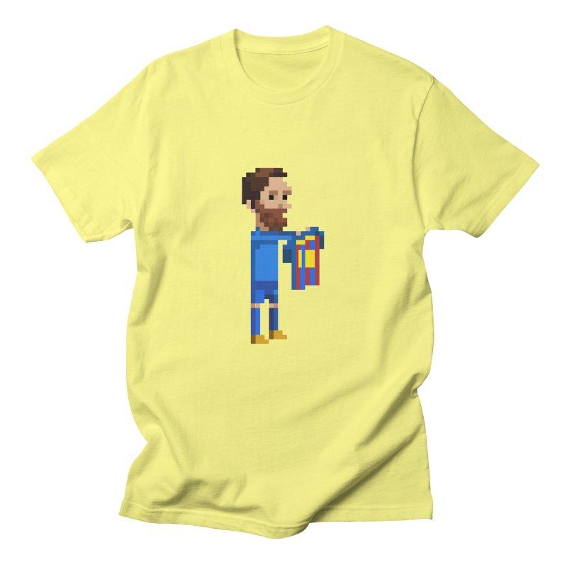 Pixel Messi Men's T-Shirt by BM Design Shop