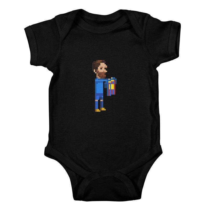 Pixel Messi Kids Baby Bodysuit by BM Design Shop