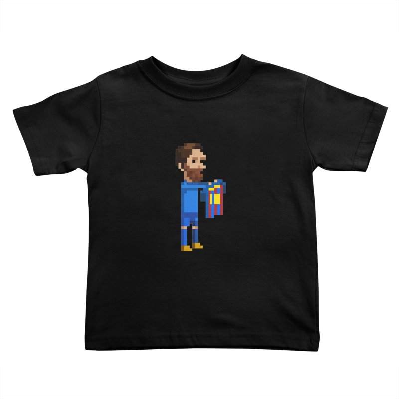 Pixel Messi Kids Toddler T-Shirt by BM Design Shop