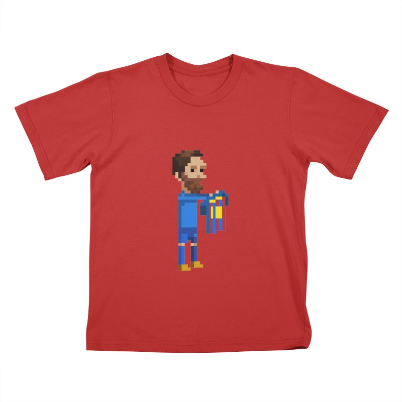 Pixel Messi Kids T-Shirt by BM Design Shop