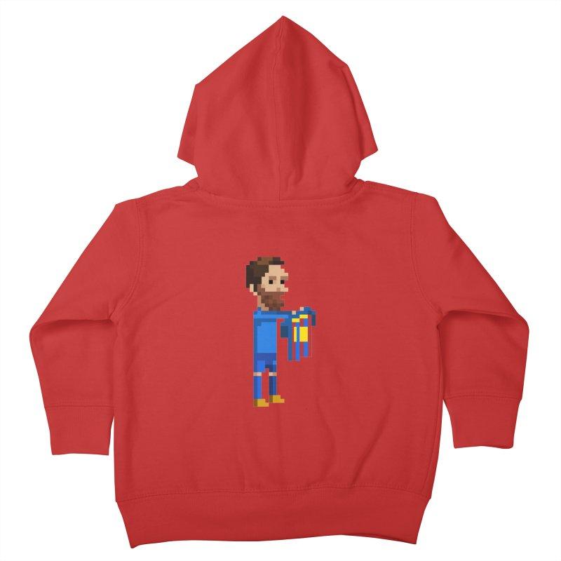 Pixel Messi Kids Toddler Zip-Up Hoody by BM Design Shop