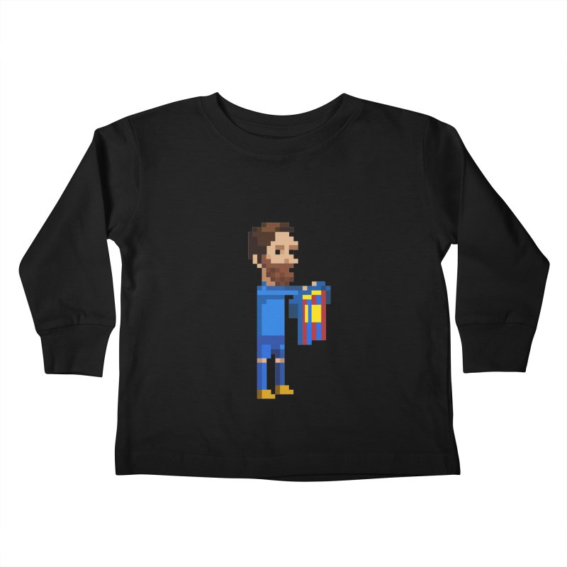 Pixel Messi Kids Toddler Longsleeve T-Shirt by BM Design Shop