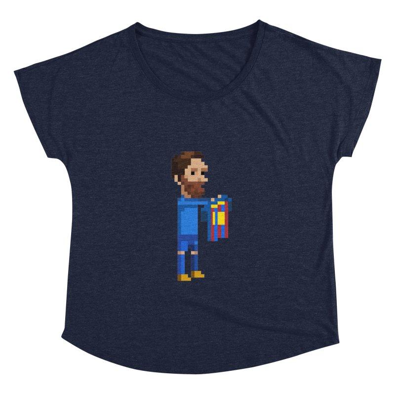 Pixel Messi Women's Scoop Neck by BM Design Shop