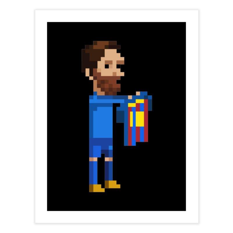 Pixel Messi Home Fine Art Print by BM Design Shop