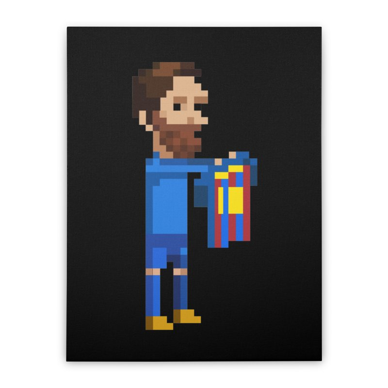 Pixel Messi Home Stretched Canvas by BM Design Shop