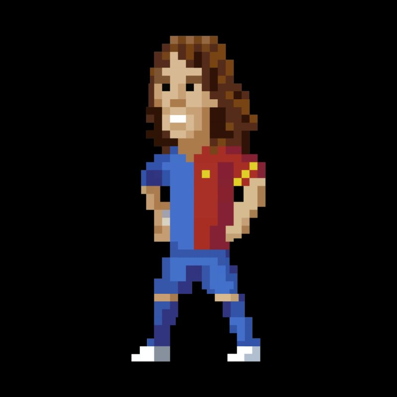 Pixel Puyol Men's Longsleeve T-Shirt by BM Design Shop