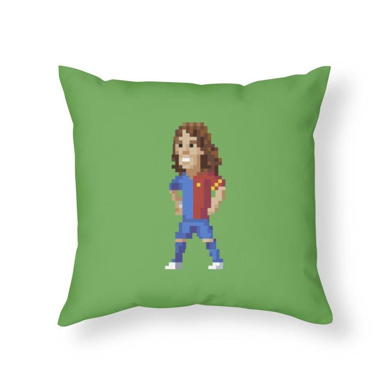 Pixel Puyol Home Throw Pillow by BM Design Shop