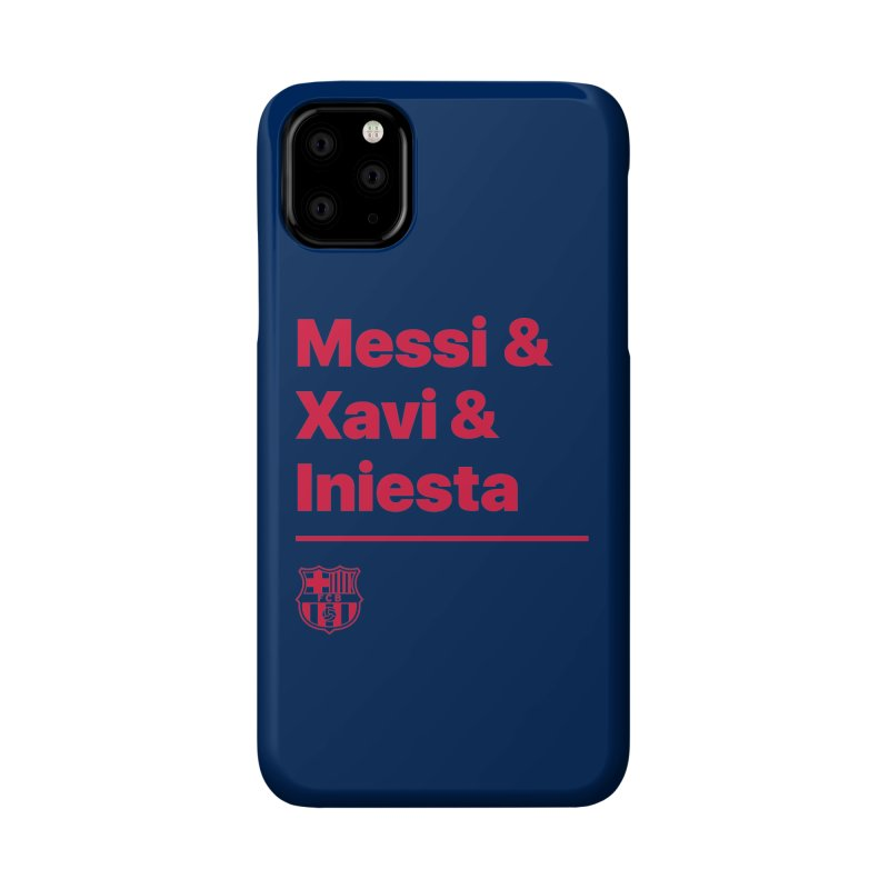 Xavi Messi Iniesta Accessories Phone Case by BM Design Shop