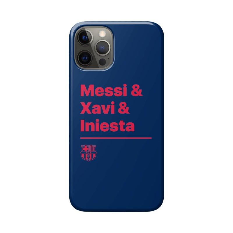 Xavi Messi Iniesta Accessories Phone Case by BM Design Shop