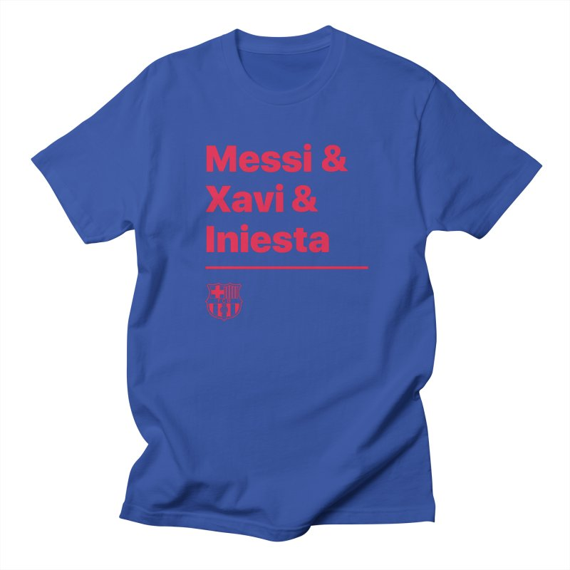 Xavi Messi Iniesta Men's T-Shirt by BM Design Shop