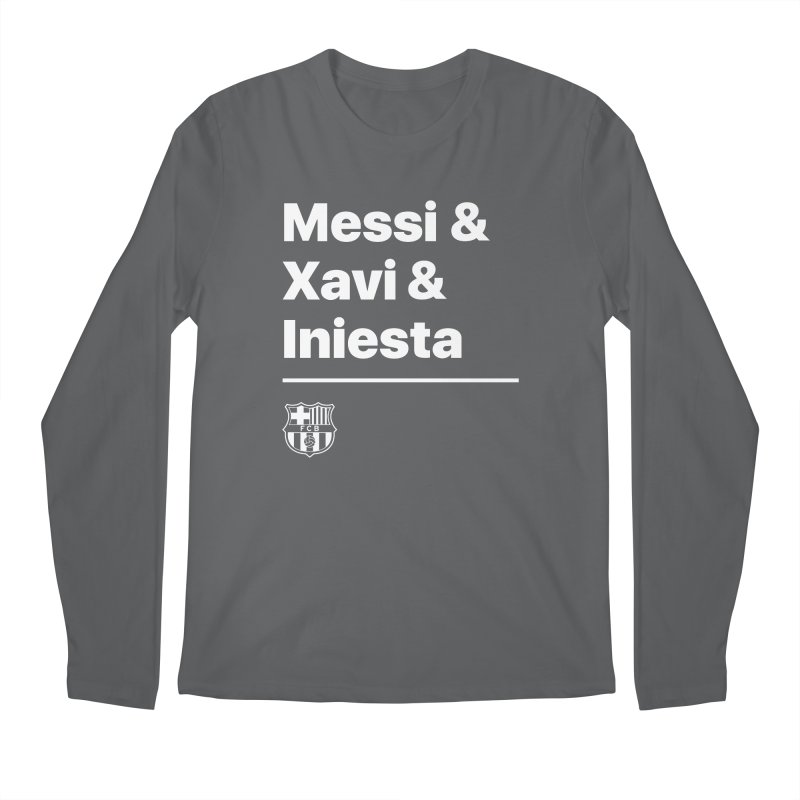 Messi Xavi Iniesta All Colors Men's Longsleeve T-Shirt by BM Design Shop
