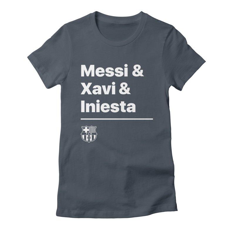Messi Xavi Iniesta All Colors Women's T-Shirt by BM Design Shop