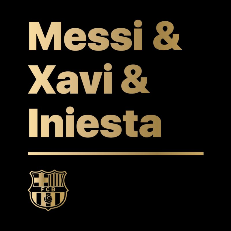 Messi Xavi Iniesta Gold Men's T-Shirt by BM Design Shop