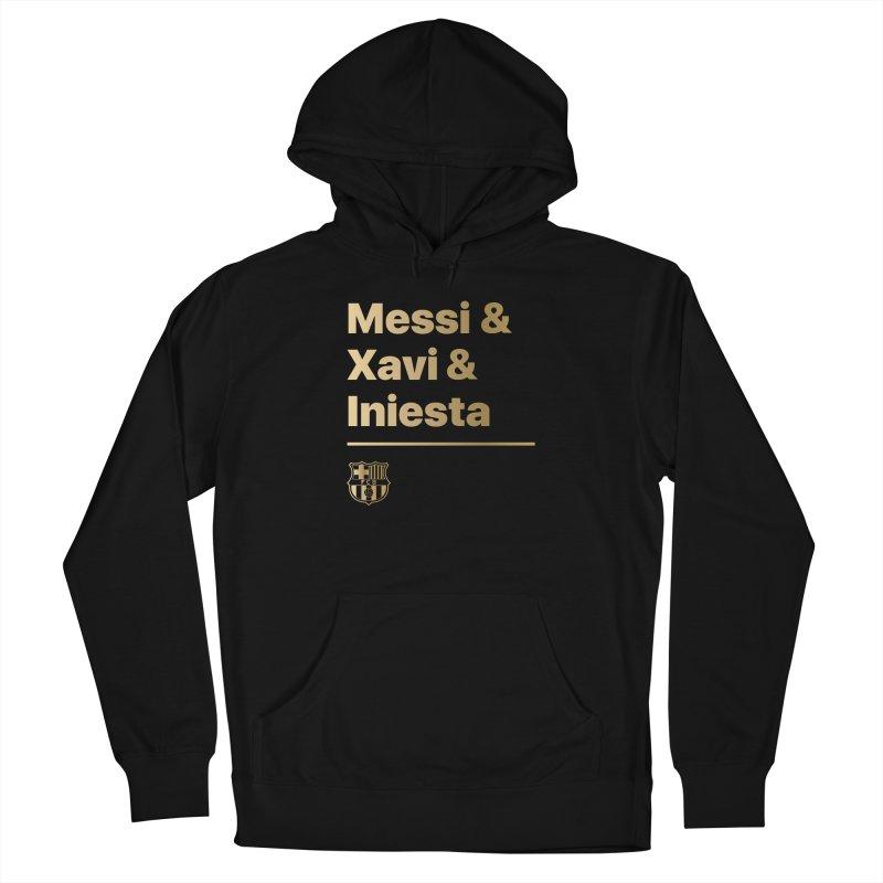 Messi Xavi Iniesta Gold Men's Pullover Hoody by BM Design Shop