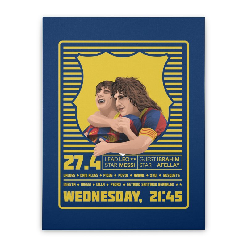 Messi World Tour Home Stretched Canvas by BM Design Shop