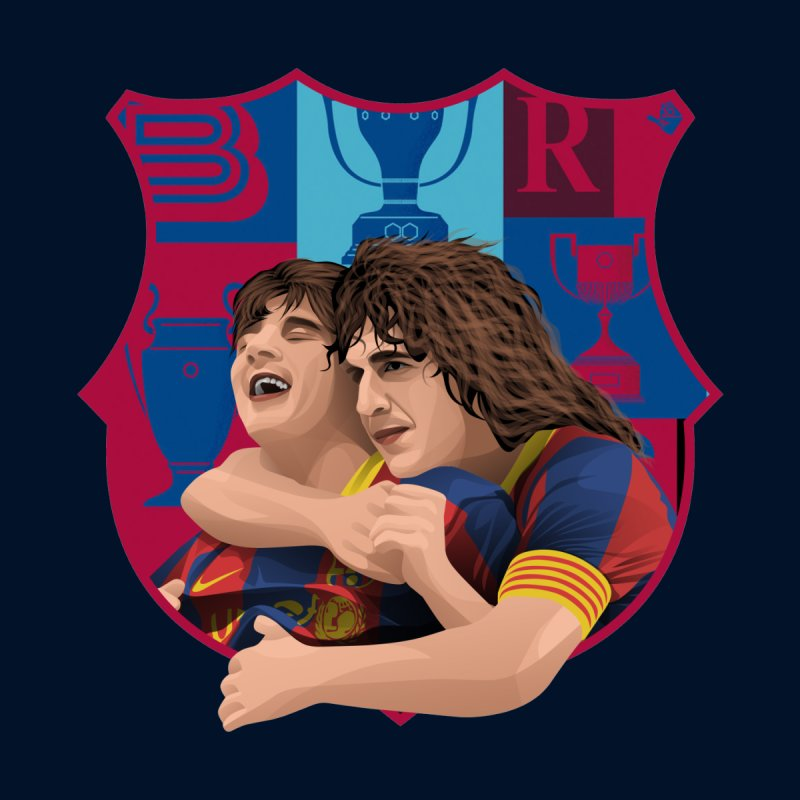 Messi & Puyol Home Framed Fine Art Print by BM Design Shop