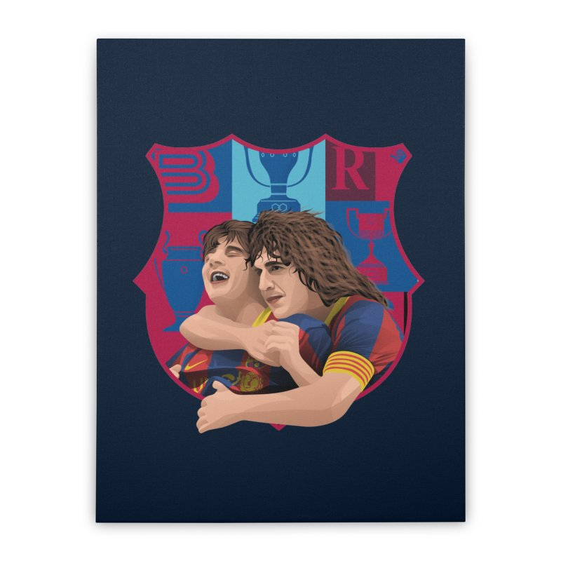 Messi & Puyol Home Stretched Canvas by BM Design Shop