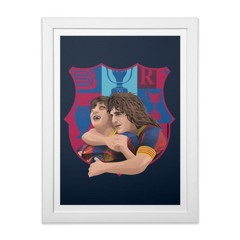 Messi & Puyol Home Framed Fine Art Print by BM Design Shop