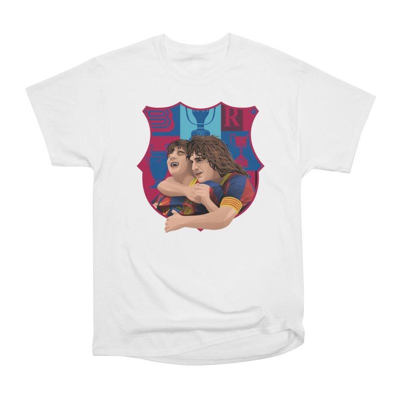Messi & Puyol Men's T-Shirt by BM Design Shop