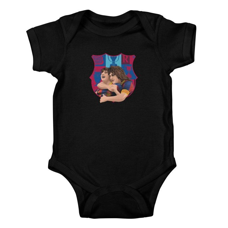Messi & Puyol Kids Baby Bodysuit by BM Design Shop