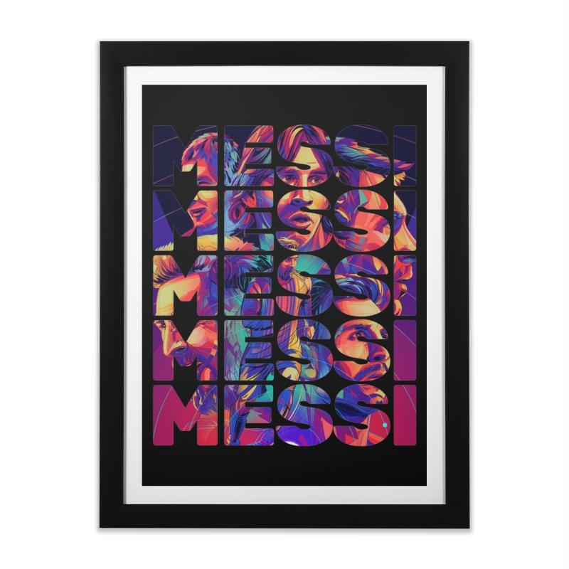 Leo Messi Home Framed Fine Art Print by BM Design Shop