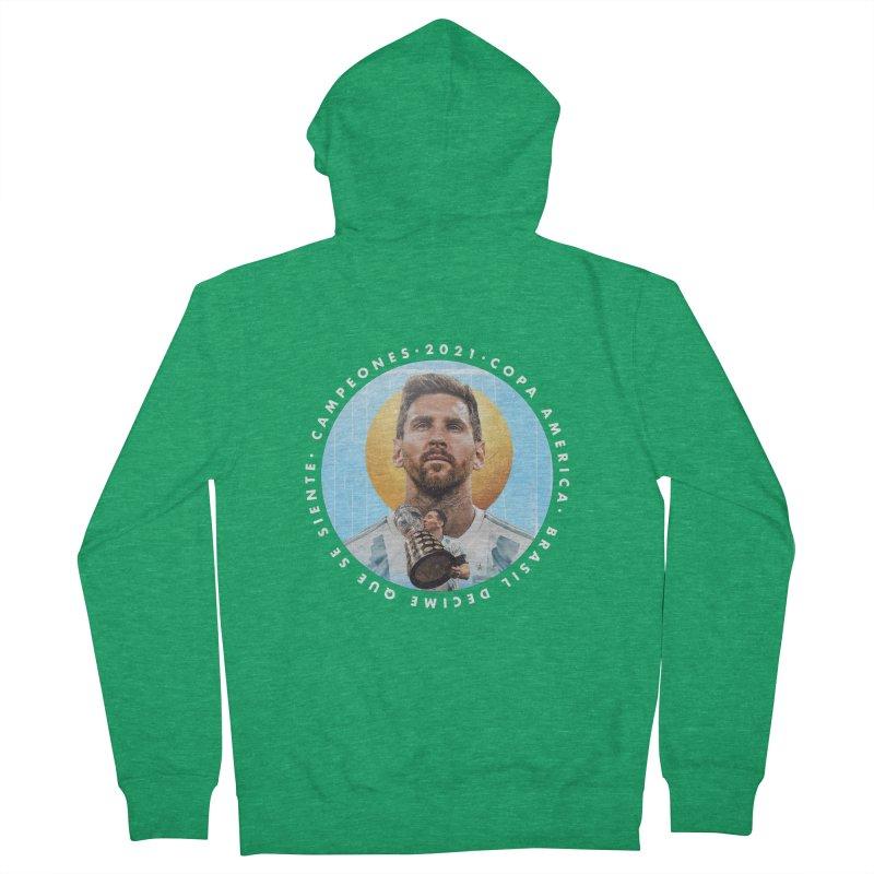 Messi Copa America Men's Zip-Up Hoody by BM Design Shop