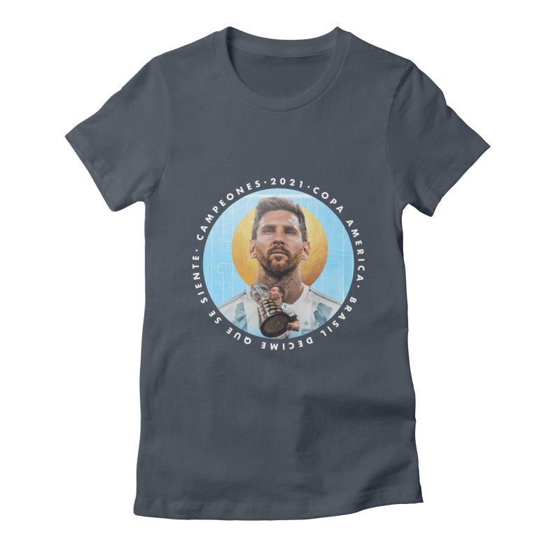 Messi Copa America Women's T-Shirt by BM Design Shop